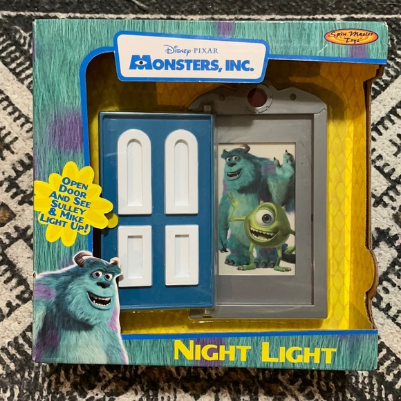 Vintage monsters inc night light New in box Disney